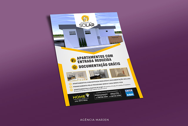 Flyer residencial solar - Marjen
