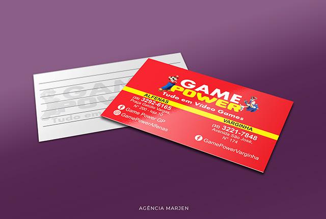 Cartão de Visita - Marjen - Gamer Power